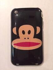 Iphone 3G Paul Frank Monkey Black Hard Plastic Clear Phone Cover Case Brand New