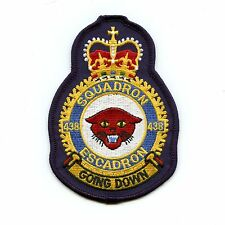 RCAF CAF Canadian 438 Squadron Heraldic Colour Crest Patch