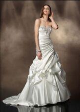 Impression Bridal Wedding Dress #10201 Size 12 Retail $1299 NWT Ivory Bling Pick