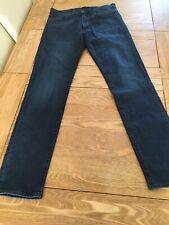 Mens Levi Strauss & Co 511 Jeans Size W34 L34 Blue Skinny Stretch Casual Jeans