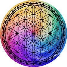 """Flower of Life Sacred Geometry Grid 5"""" Metaphysical Reike healing crystal grid"""