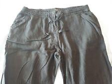 Next Black Linen Trousers Size 14L