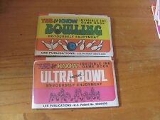 Yes & Know 2 books SEALED Bowling Ultra Football Lee Pubication Invisible ink