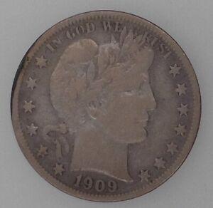 1909-S Barber Half, Very Fine Details
