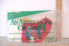 AN AMERICAN TAIL~SEARS / MCDONALDS~MINI CHRISTMAS STOCKING~FIEVEL W/ CANDY CANE~