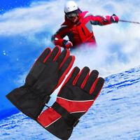 Hombre impermeables Guantes de invierno Mitones Moto Esquí  -30 ℃ Nieve manoplas
