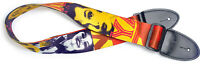 Guitar Strap Pop Girl Yellow And Red