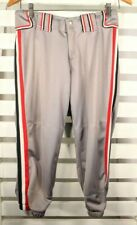 Boombah Size 32 Gray with Blue Red White Piping Baseball Softball Knickers Pants