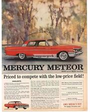 1961 MERCURY Meteor 800 Signal Red 2-door Coupe Vtg Print Ad