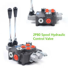 2 Spool Hydraulic Directional Control Valve 21 Gpm 1 6 Lever For Tractor Loader