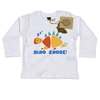 Dino Snore Long Sleeve T Shirt Gift for Newborn Baby or Toddler Dino Smalls