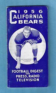 1956 California Bears Football Media Guide - Golden Bears Press Radio Television