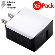 5x USB Wall Charger QualComm Fast Charging Power Adapter For iPhone X Samsung LG