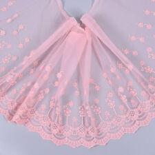 Rüschenband Zierborte Nähen Hut Rock Kleid Randverzierung Spitzenborte Rosa Blau