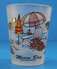 MORRO BAY, California, Vintage Shot Glass Beach Umbrella Excellent Condition