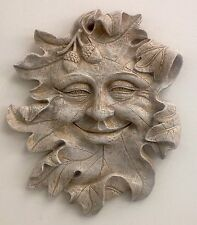 Clearance Acorn Green Man Leaf Face Mythical Wall Plaque Antique Finish