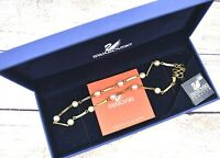 NEW NIB Swarovski Crystal Pearl Gold Tone Necklace (1801963)