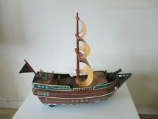 VINTAGE PIRATE SHIP battery operated MODERN TOYS made in Japan