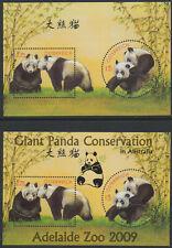 "2003 - Austria-China Minisheet Panda original+overprint ""Adelaide Zoo 2009"" **5"