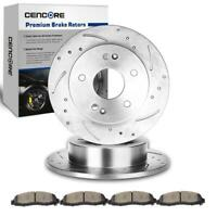 4 Front Rear Left Brake Ceramic Pads For 04-08 GMC Sierra 3500 2WD//4WD Dual