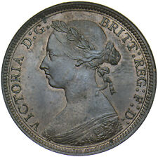 More details for 1887 halfpenny - victoria british bronze coin - very nice