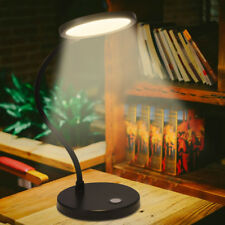 Clip On LED Desk Table Lamp USB Dimmable Switch Eye Care Reading Light Clamp