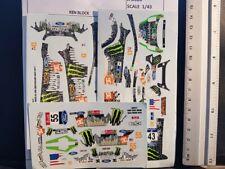 LOT 3 DECALS 1/43 FORD FIESTA / FOCUS WRC - KEN BLOCK - JFD006