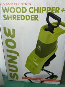 Sun Joe CJ602E 15 Amp Electric Wood Chipper/Shredder, Green, New in Unopened Box