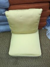 Frontgate Outdoor Deck Patio Lounge Chair Sofa Cushions Pastel Golden 24x24 NEW