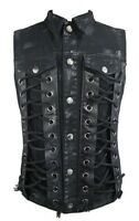 Enigma SS043 Rock star black sleeveless shirt with adjustable drawstrings