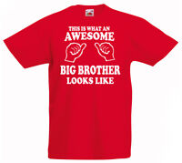 Excellent Grosse Brother T-Shirt 3-13yrs Cadeau Boys Anniversaire Drôle Kid