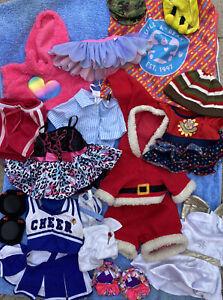 Build A Bear Clothing Bundle x20 Items Hello Kitty Pudsey Cheerleader Santa