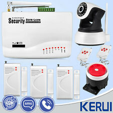 10A GSM SMS Home Security Burglar Alarm System With HD 720P Indoor IP Camera