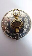 Rare Relique ancienne clé de remontage montre or incrustation old Jewelry relic