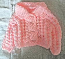 Handknitted / Cheshire Pink Baby Matinee Jacket /Coat/Cardigan Newborn