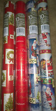 4 X 10M ROLLS CHRISTMAS XMAS WRAPPING PAPER ASSORTED DESIGNS SANTA/ TRADITIONAL