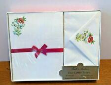 Vintage Pratt & Austin Fine Letter Paper Floral Stationery Set New Sealed Box