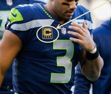 NFL '17 SEASON SEATTLE SAEHAWKS' CAPTAIN Russell Wilson JERSEY 4-⭐CAPTAIN PATCH