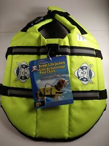 NWT Paws Aboard Designer Doggy Life Jacket Small Day Glo & Reflective