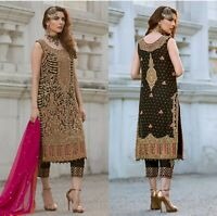 Pakistani Maria B Designer Suit Wedding Dress Chiffon Collection shalwar Kameez