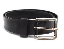 Vintage Mens Leather Belt Black Size 38
