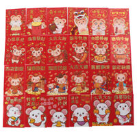 6pcs/set Chinese New Year Red Money Envelope Year of the Rat 2020 Red Poc WG