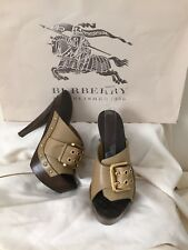 BURBERRY LADIES HIGH HEELS SHOES SZ 36 ITA / 6 US MADE IN ITALY  AUTHENTIC