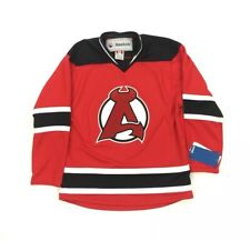 NEW Reebok Albany Devils AHL Youth Hockey Jersey Red Size L/XL RARE Binghamton