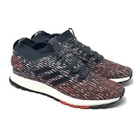 NEW adidas Pure Boost Shoes Mens Size 11.5 Grey Red Carbon Core