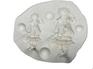 Vintage Bell #2657 Girls With Bonnets & Flowers Ceramic Casting Mold