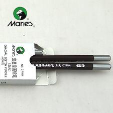 2pcs Marie's 14B Carbon Black Pencil Drawing Sketch Charcoal Artist School Art