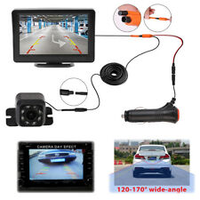 "4.3"" TFT LCD Monitor Car 8 LED Backup Camera Rear View System Two Way Wired Kit"