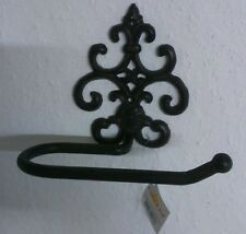 Toilettenpapierhalter Rollenhalter Gußeisen Metall Braun Antik Ornament Shabby