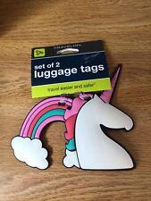 Travelon set of 2 luggage tags- Unicorn and Rainbow
